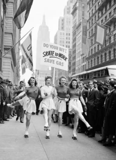 Do-Your-Bit-Skate-To-Work.-Save-Gas-ca.-1940s